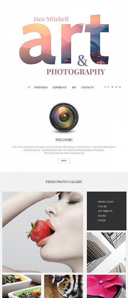 ADOBE Photoshop Template 55642 Home Page Screenshot