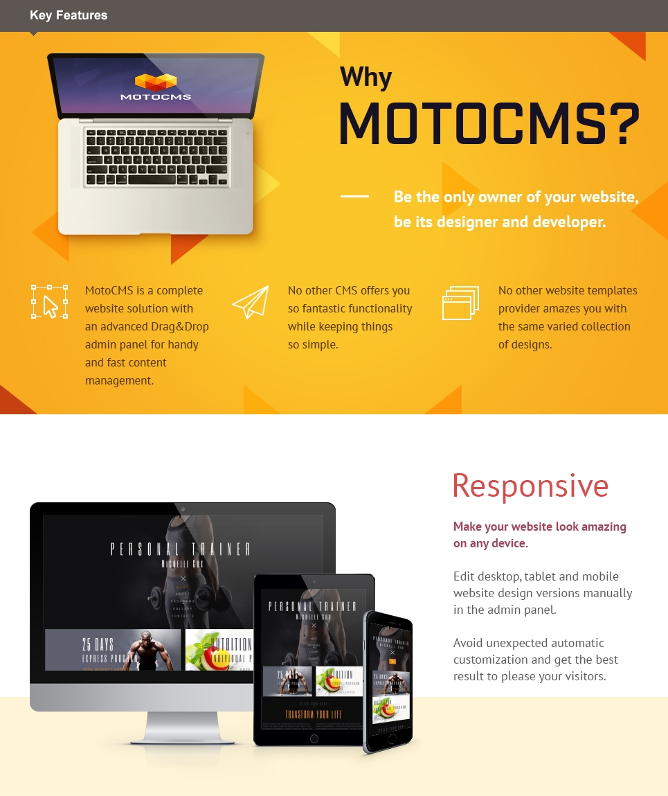 Fitness Responsive Moto CMS 3 Template