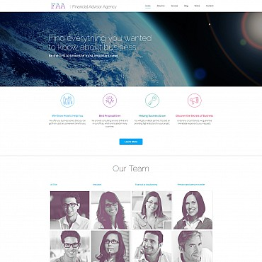 Preview image of Business Moto CMS 3 template No. 55644