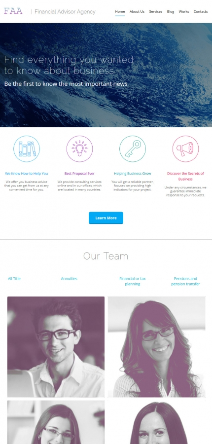 ADOBE Photoshop Template 55644 Home Page Screenshot