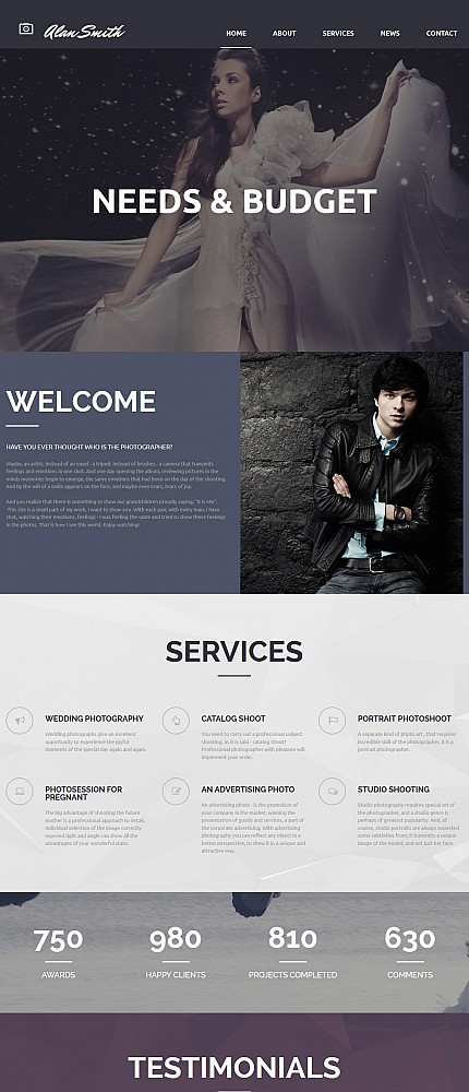 ADOBE Photoshop Template 55647 Home Page Screenshot