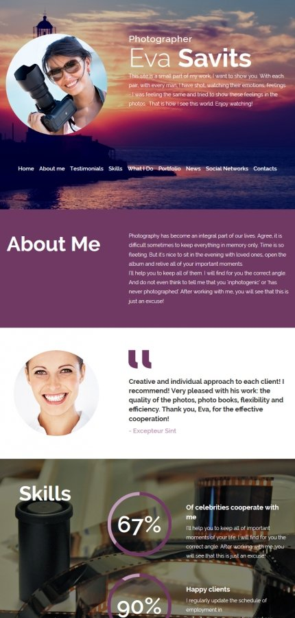 ADOBE Photoshop Template 55652 Home Page Screenshot