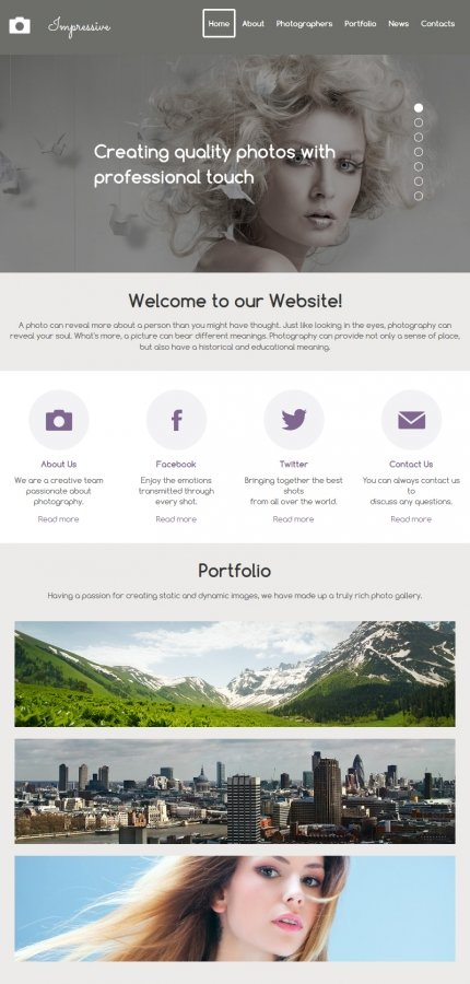 ADOBE Photoshop Template 55653 Home Page Screenshot