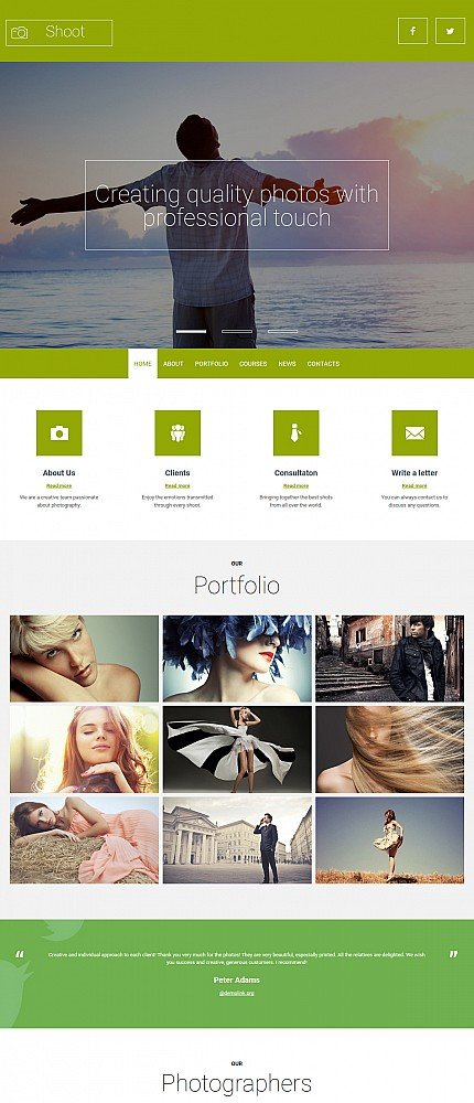 ADOBE Photoshop Template 55654 Home Page Screenshot