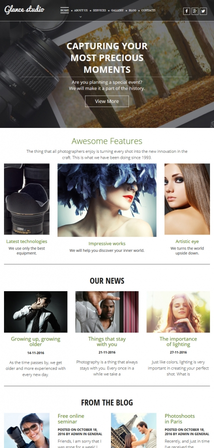 ADOBE Photoshop Template 55655 Home Page Screenshot