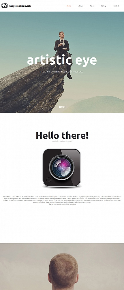 ADOBE Photoshop Template 55657 Home Page Screenshot