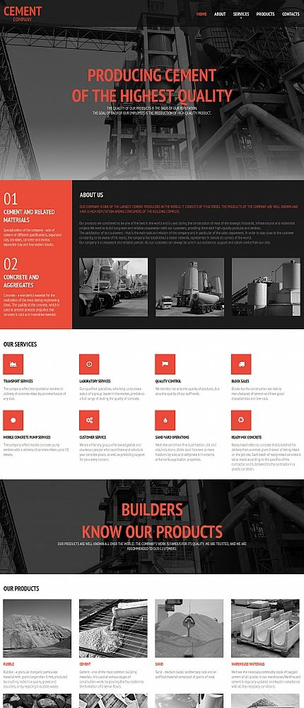 ADOBE Photoshop Template 55658 Home Page Screenshot
