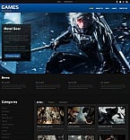 Games Moto CMS HTML  Template 55660