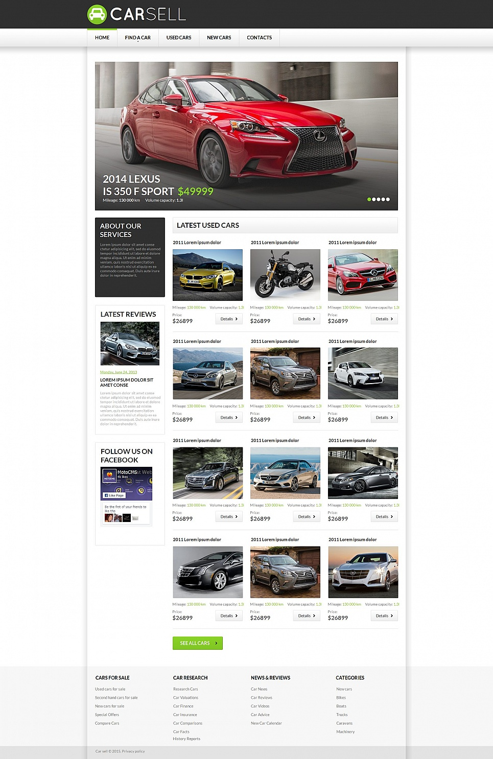 Car Sell HTML Website Template - image