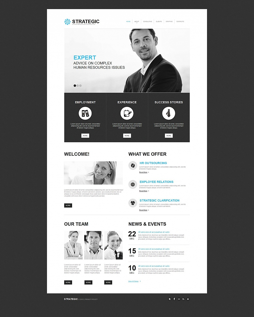 Strategic html HTML Website Template - image