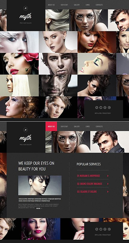 ADOBE Photoshop Template 55664 Home Page Screenshot