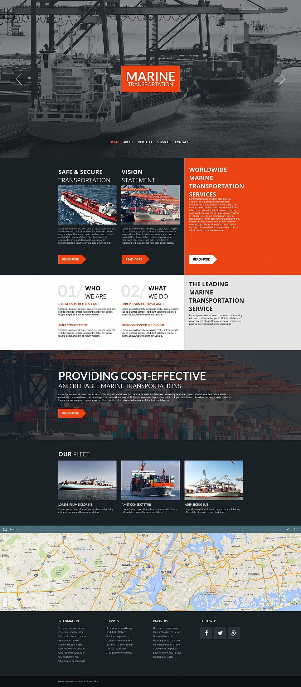 Marine Transportation HTML Website Template - image