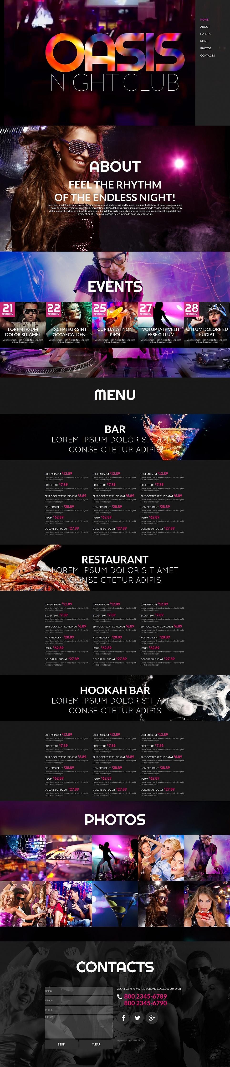 Oasis HTML Website Template - image