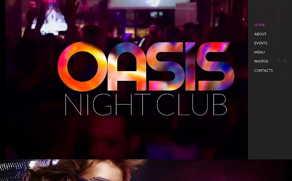 Szablon Moto CMS HTML #55670 na temat: klub nocny New Screenshots BIG