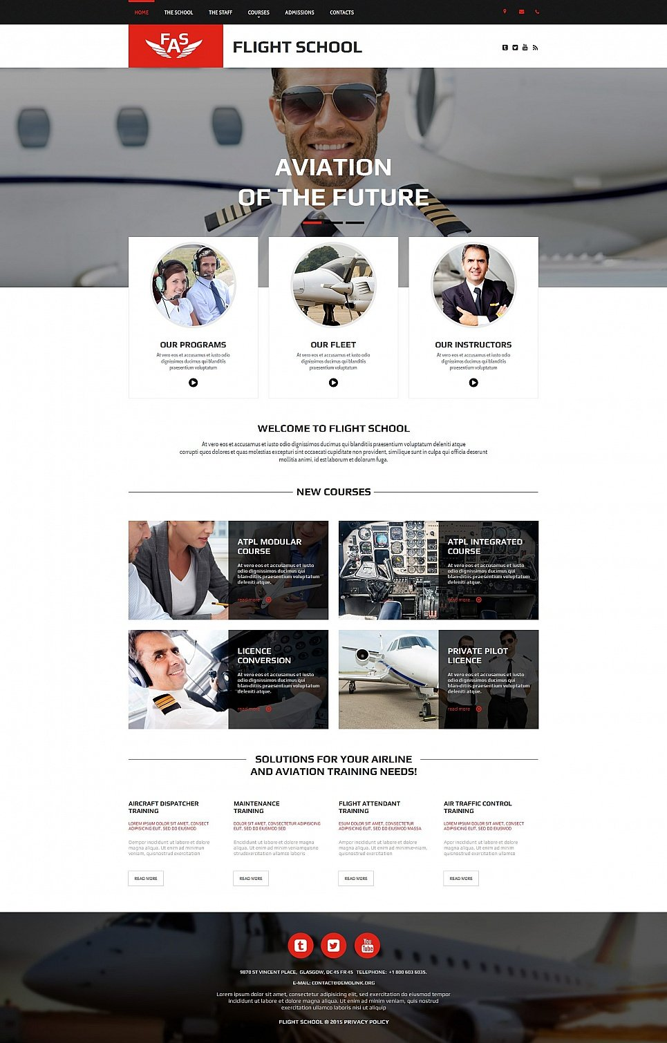 Flight School html HTML Website Template - image