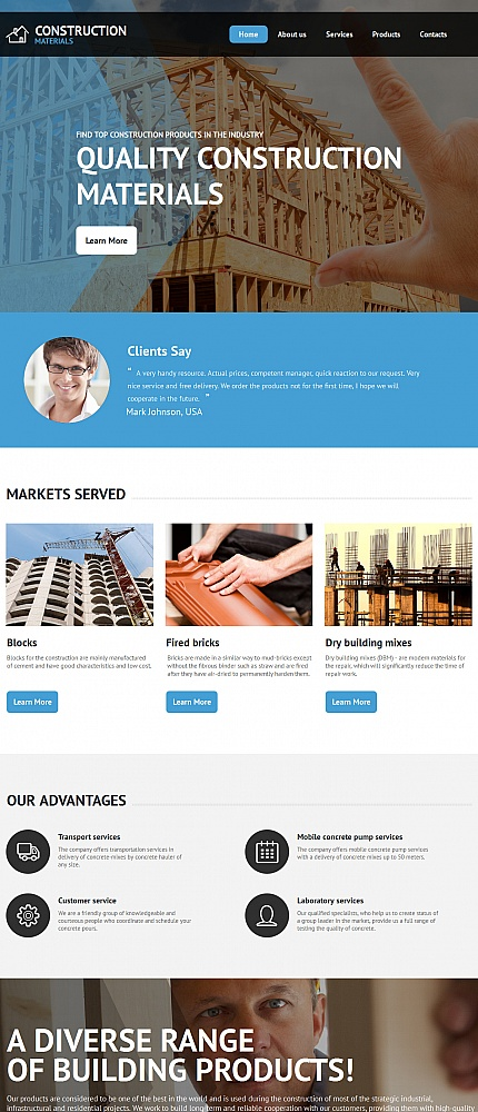 ADOBE Photoshop Template 55673 Home Page Screenshot