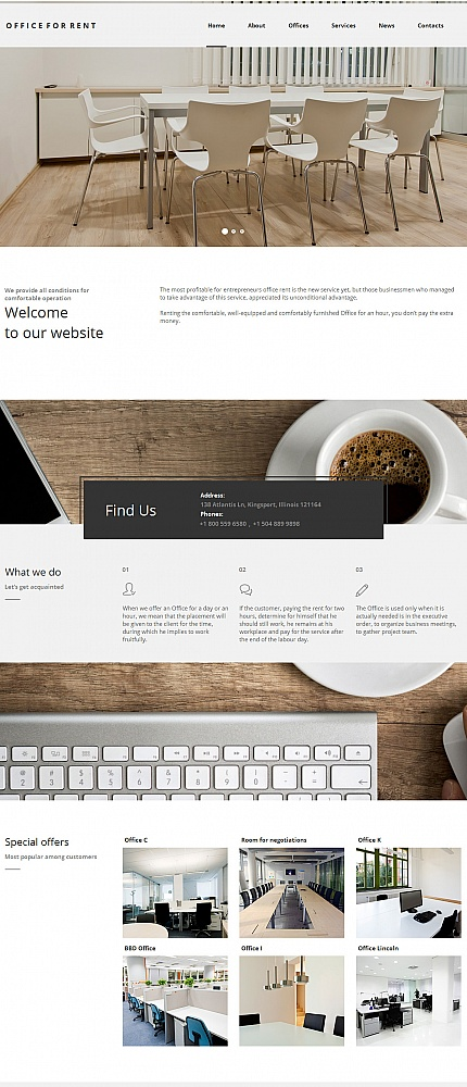 ADOBE Photoshop Template 55674 Home Page Screenshot