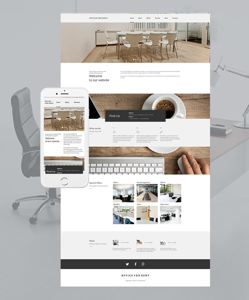 White site theme for businessmen