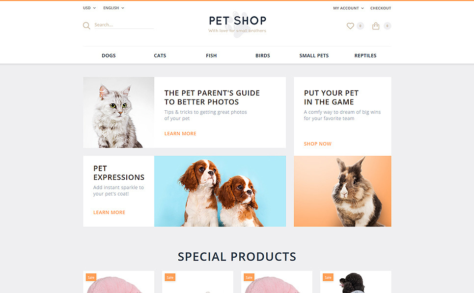 Responsive OpenCart Template over Dierenwinkel New Screenshots BIG