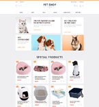 Animals & Pets OpenCart  Template 55687