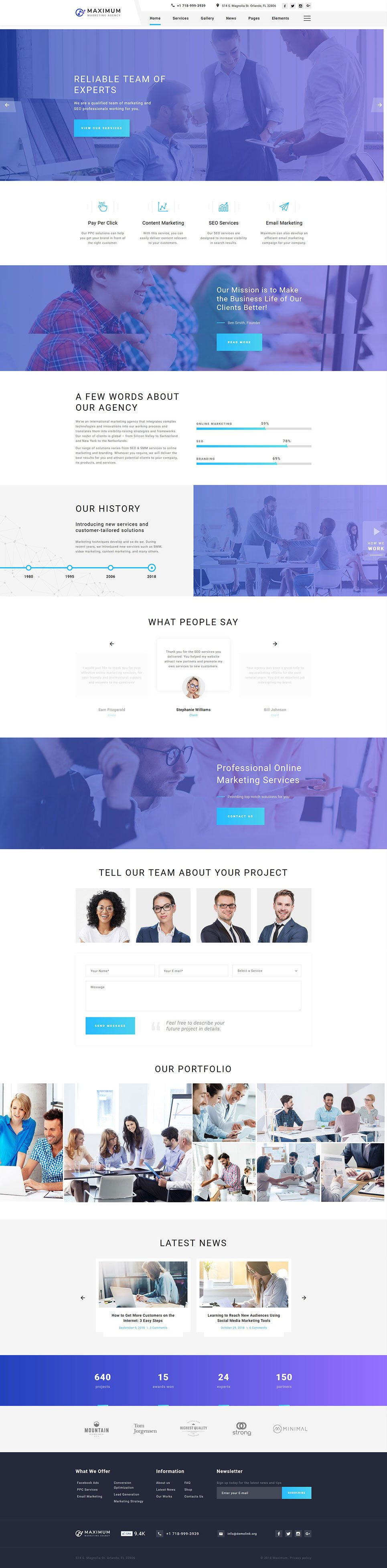 Digital Marketing Agency template illustration image