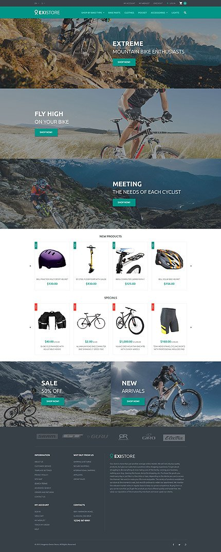 Magento Theme/Template 55698 Main Page Screenshot