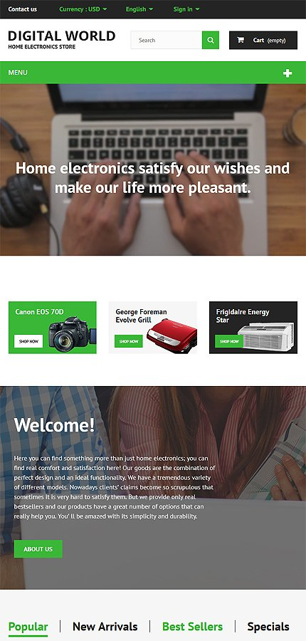 ADOBE Photoshop Template 55699 Home Page Screenshot