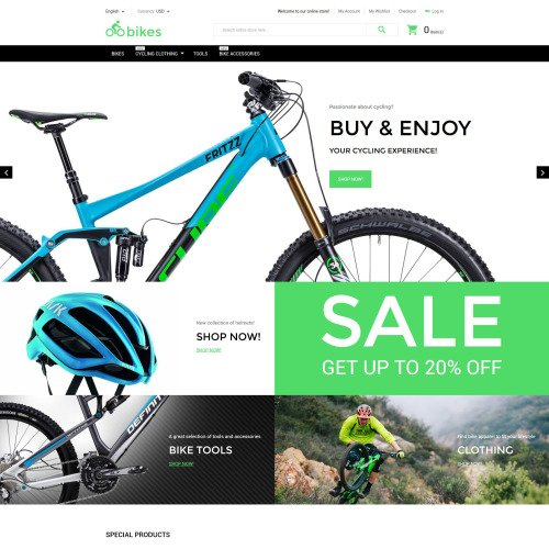 Bikes - Magento Template based on Bootstrap