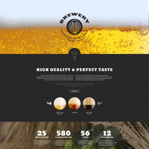 Brewery - Responsive Landing Page Template