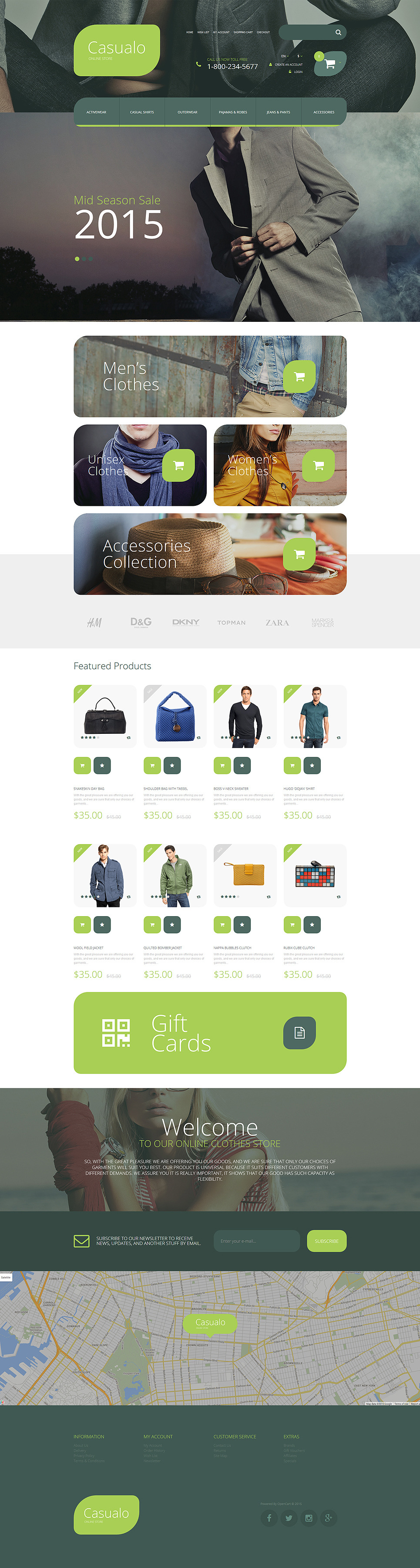 Casualo OpenCart Template New Screenshots BIG