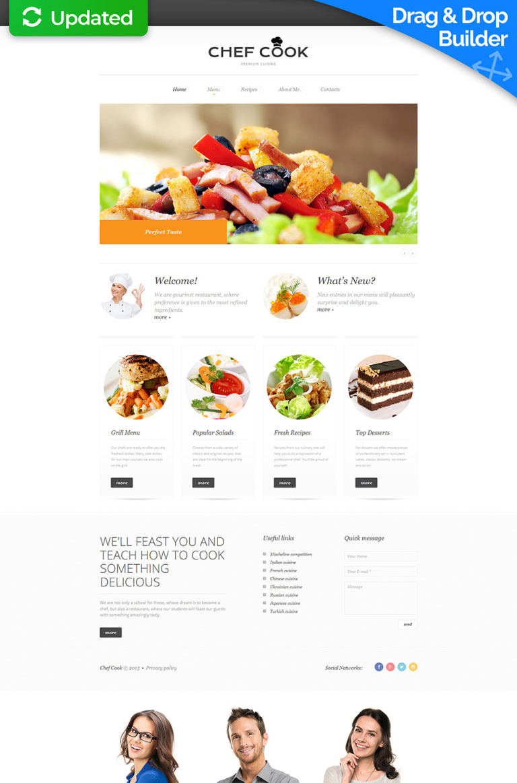 Chef Responsive Moto CMS 3 Template New Screenshots BIG