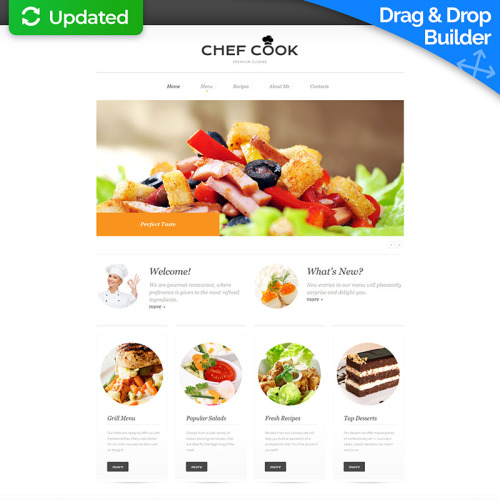 Chef Cook - MotoCMS 3 Template based on Bootstrap