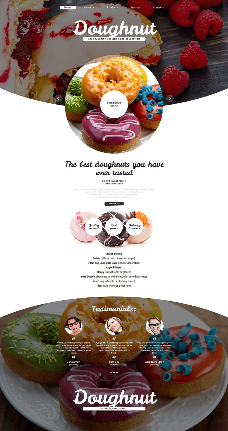 Confectionary Website Template New Screenshots BIG
