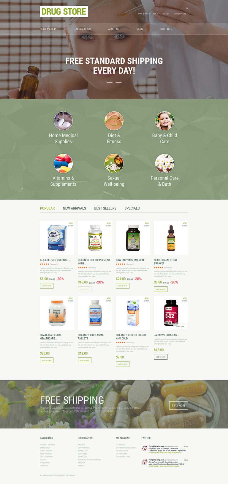 Drug Store PrestaShop Theme New Screenshots BIG
