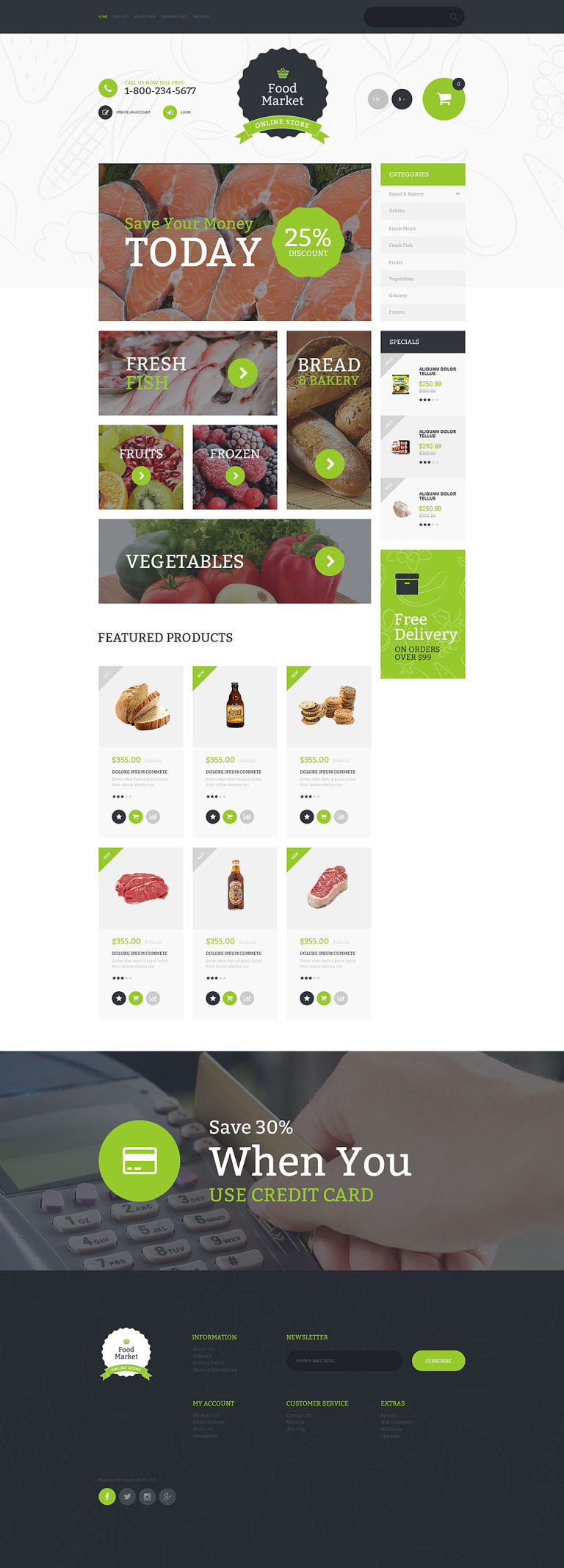 Food Market OpenCart Template New Screenshots BIG