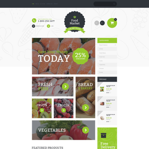 Food Market - OpenCart Template based on Bootstrap