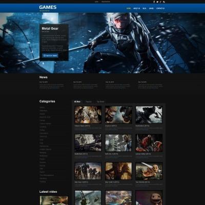 Game Portal Moto CMS HTML Template #55660