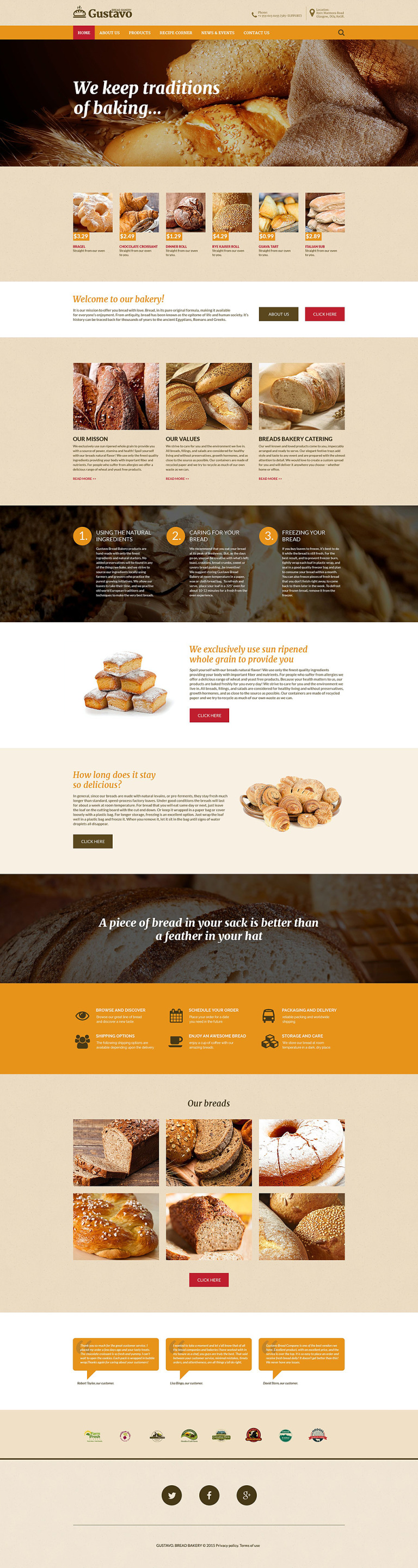Gustavo Website Template New Screenshots BIG