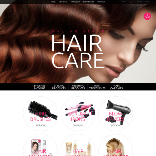 Hair Care - OpenCart Template based on Bootstrap