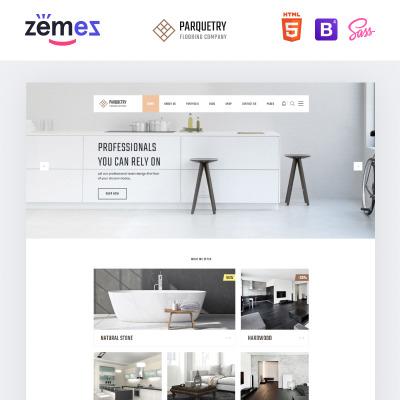 "HTML шаблон ""Perquetry - Elegant Flooring Company Multipage HTML"" #55694"