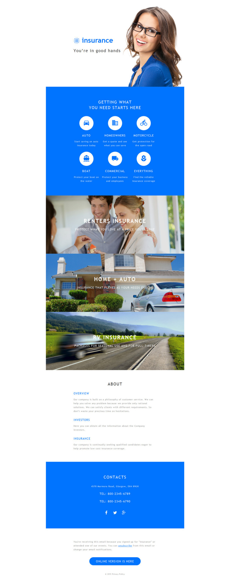 Insurance Responsive Newsletter Template New Screenshots BIG