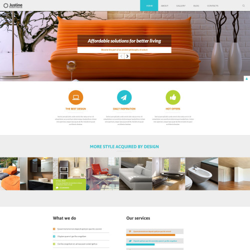 Justine - Joomla! Template based on Bootstrap