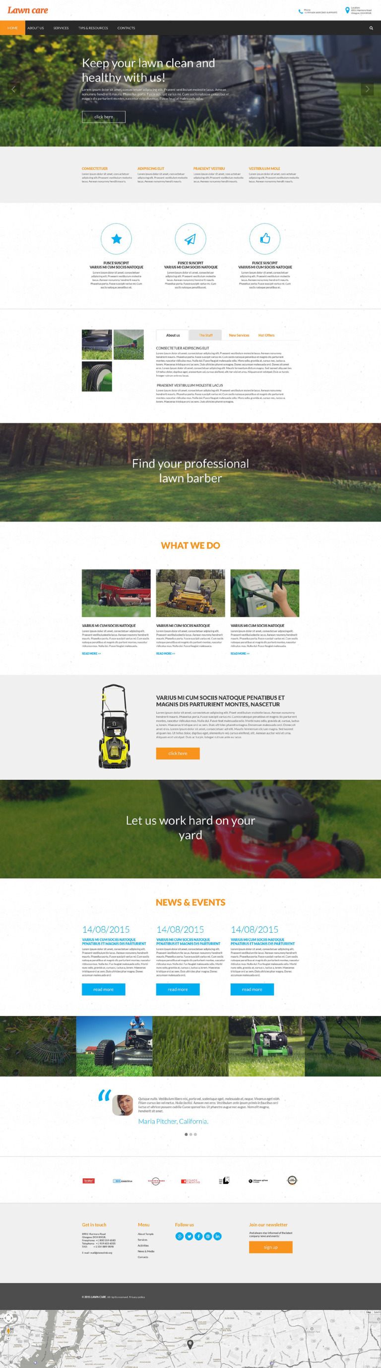 Lawn Mowing Responsive Website Template New Screenshots BIG