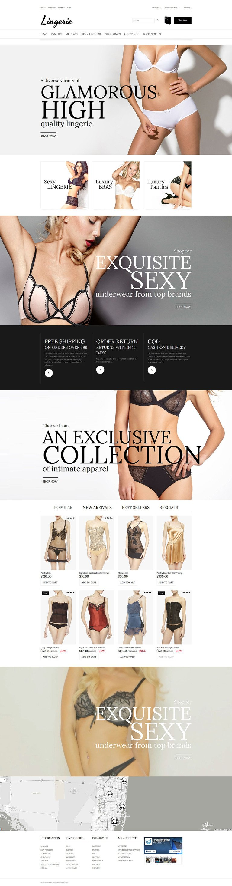 Lingerie PrestaShop Theme New Screenshots BIG