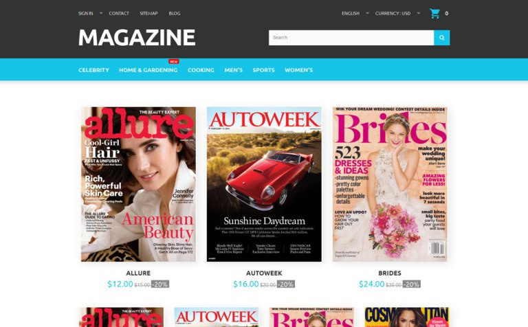 Magazine PrestaShop Theme