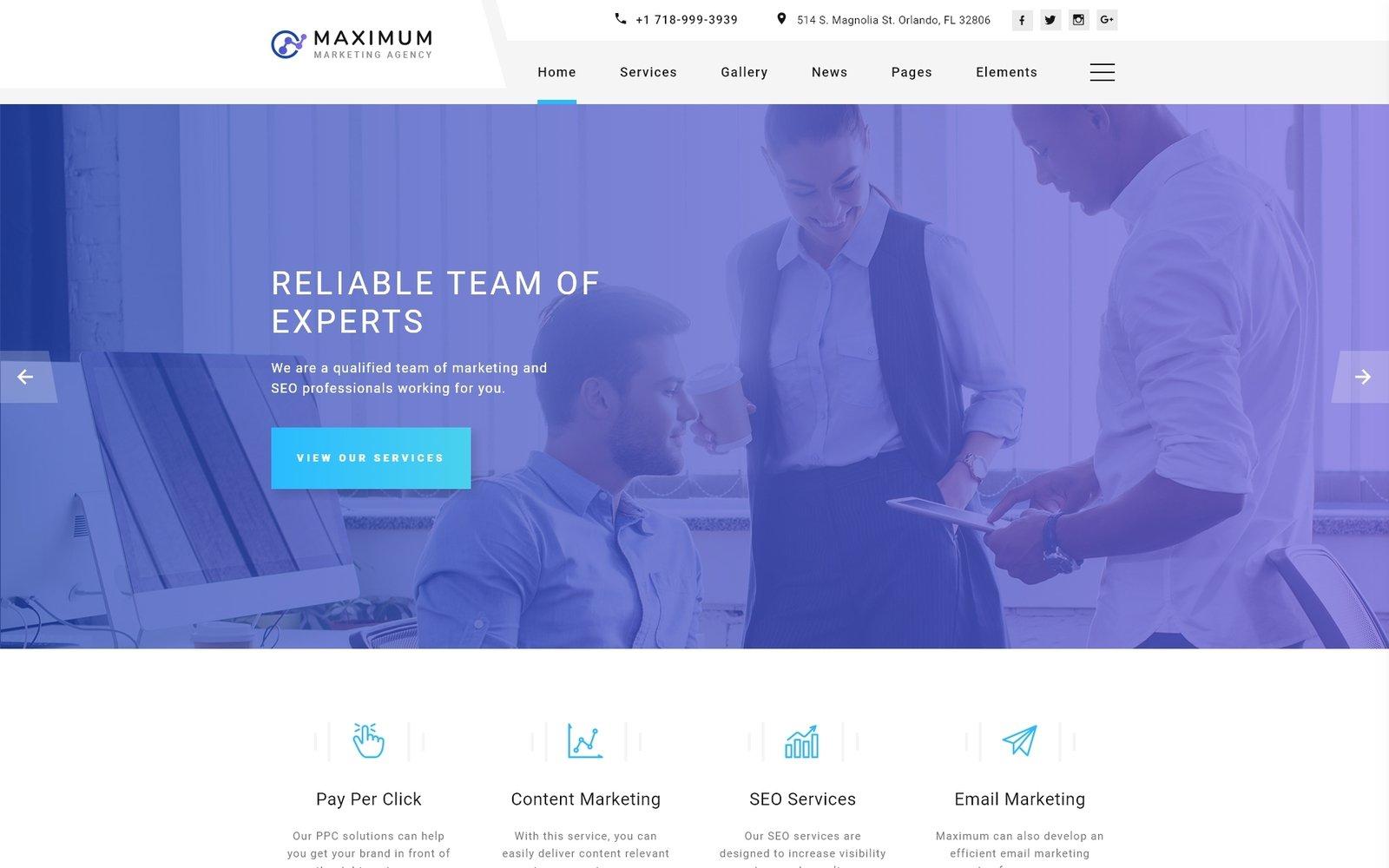 Maximum - Efficient Digital Agency Multipage HTML Website Template - screenshot
