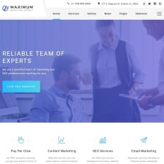 266 best business services website templates templatemonster maximum efficient digital agency multipage html wajeb Images