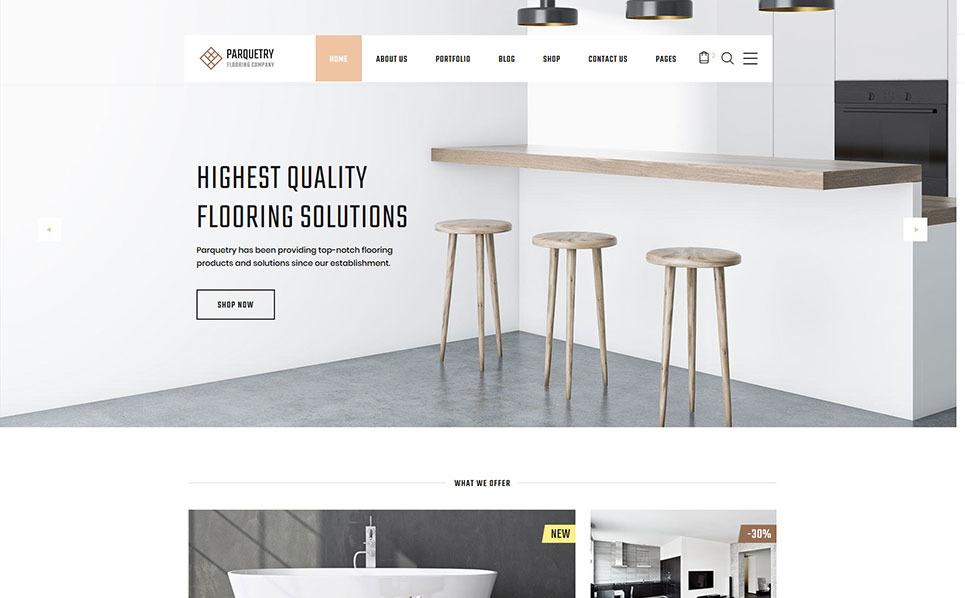 Template siti web 55694 per un sito di arredamento for Siti design arredamento