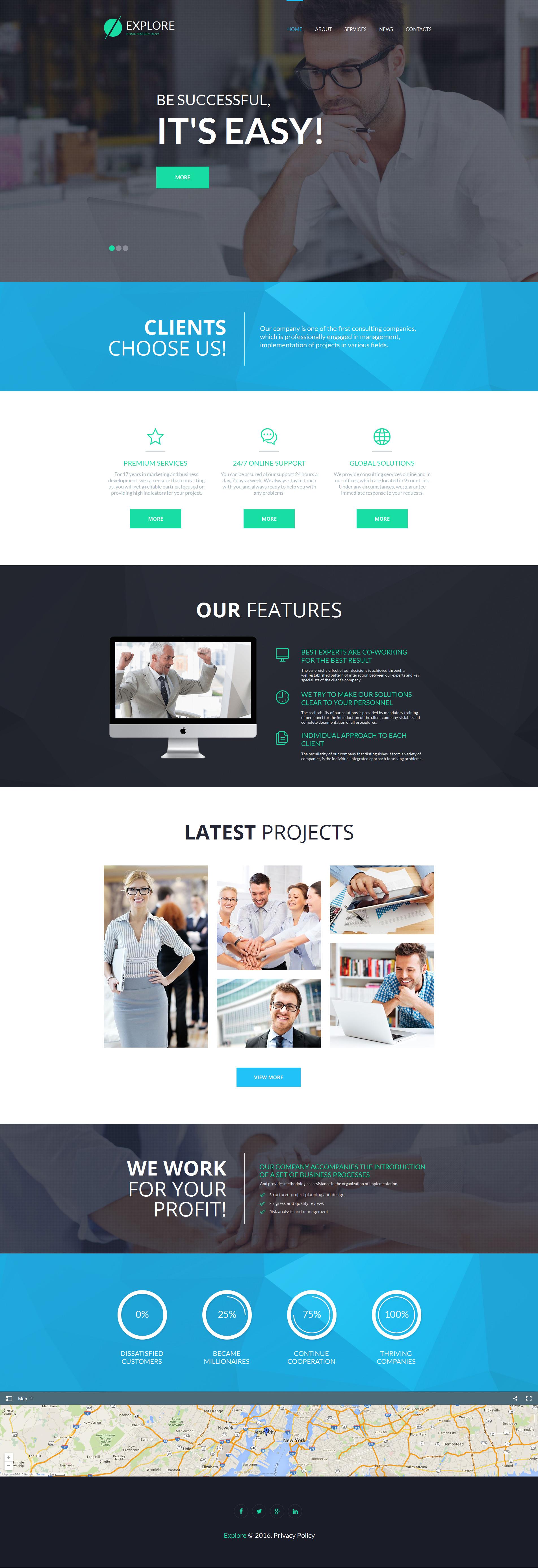 Moto CMS HTML Vorlage für Business und Dienstleistungen #55675 - Screenshot
