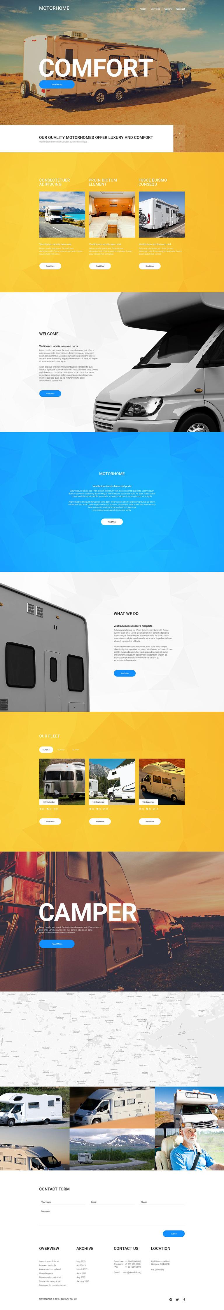 Motorhome Website Template New Screenshots BIG